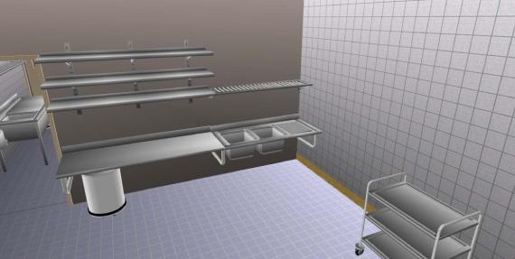 Devis 3d sur demande pour les laboratoires h pitaux chr - Plan cuisine professionnelle ...