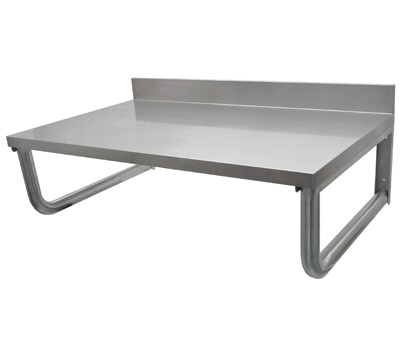 Table inox suspendue et plan de travail inox cogenim for Table travail inox