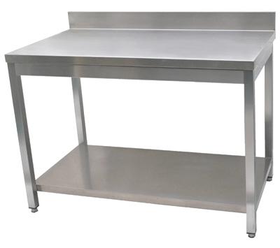 Table inox adoss e et plan de travail inox pour for Table de travail en inox